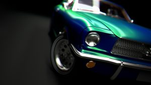 mustang render cinema 4d redshift